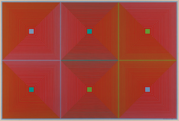We're saddened to learn of the recent passing of Op Art pioneer Richard Anuszkiewicz at the age of 89. This untitled 1969 screenprint by the artist is part of the DAI collection.  Read more about his life and work in this @nytimes feature >> https://nyti.ms/2X3qCVCpic.twitter.com/VLHc5AZLZx
