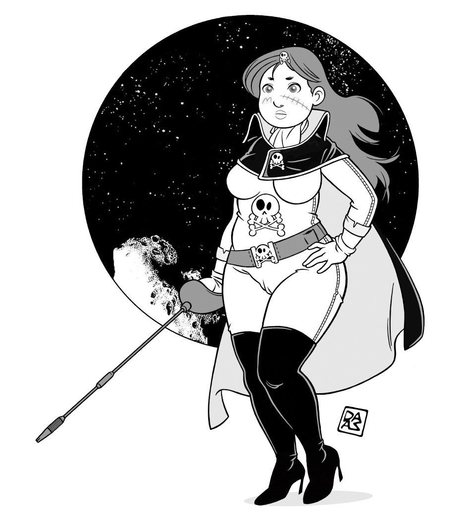 And here is also Maetel's sister, Emeralds. Giò's Cosplay of the Month, Harlock's gender swap - when this term was not used yet - and inveterate collector of jolly rogers ;) :)  Colored: http://www.patreon.com/posts/37416659   #Patreon #cosplay #fanart #CaptainHarlock #digitaldrawingpic.twitter.com/jCs1PSNIoA