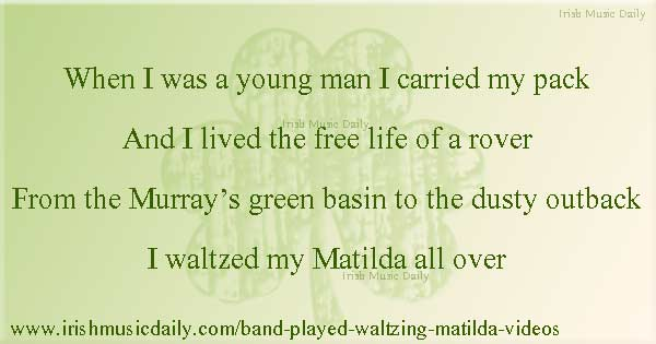 Four great acts including Ryan Kelly, Liam Clancy  and the Pogues singing The Band Played Waltzing Matilda. http://www.irishmusicdaily.com/band-played-waltzing-matilda-videos… #irishmusic  Do you have any other favourite versions of this song? pic.twitter.com/bPOpZsyvxm