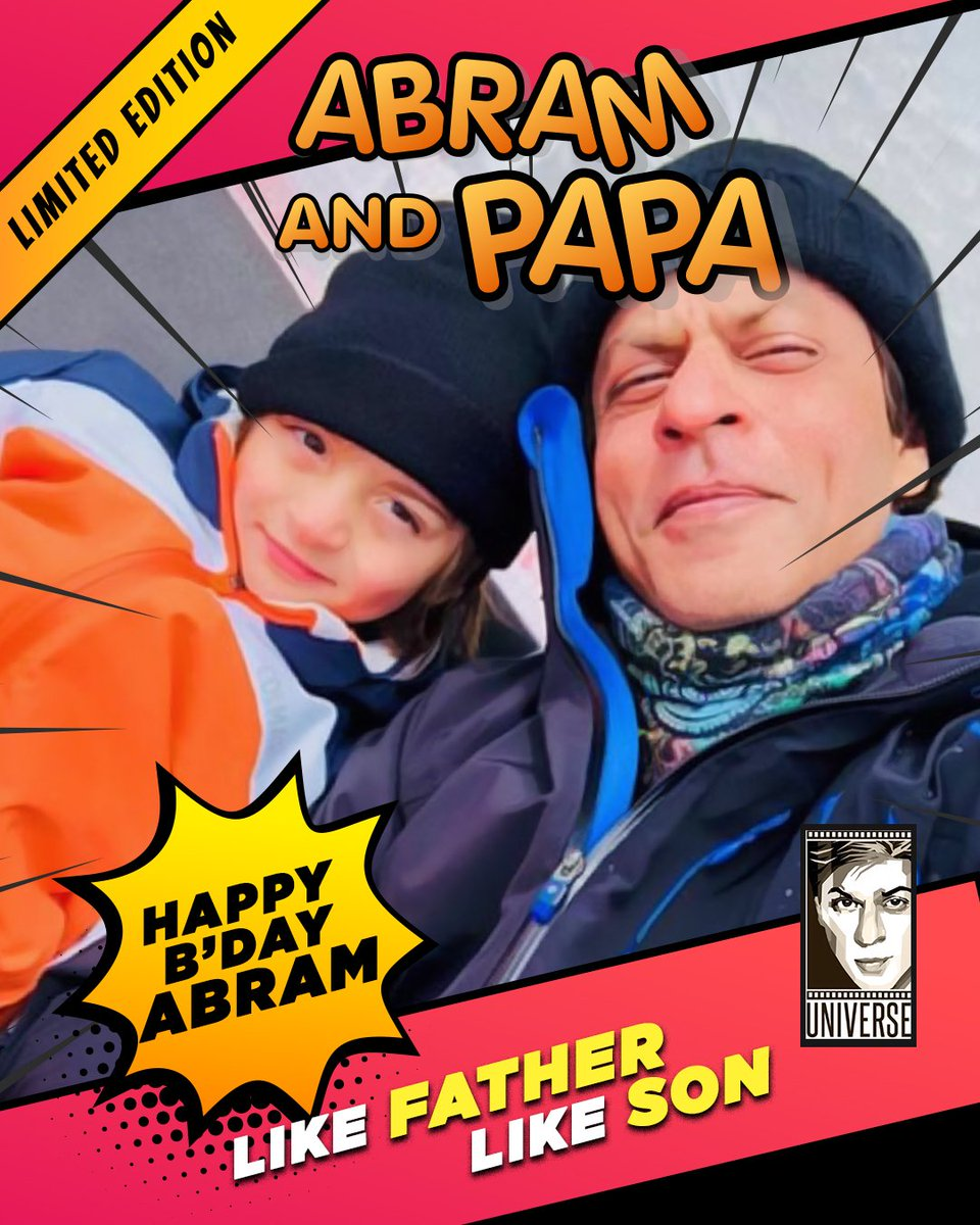 SRK Universe wishes the apple of his Papa's eyes, the super adorable and charming, little AbRam Khan a very Happy 7th Birthday! Wish you all the joy in the world. 🥳❤️  #HappyBirthdayAbRam #ShahRukhKhan #AbRam