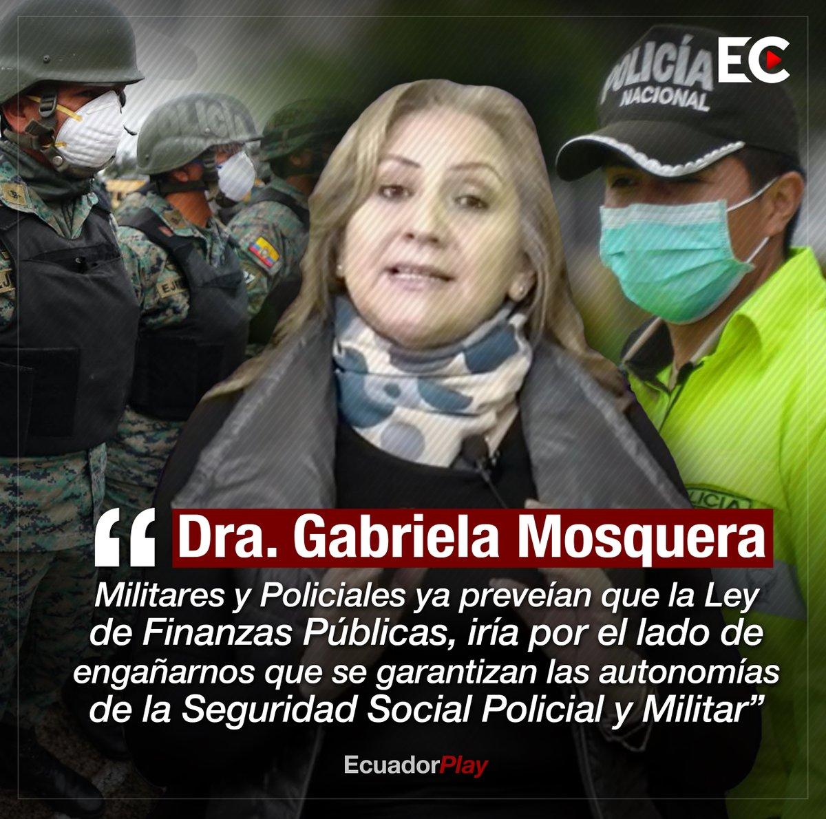 #ATENCIÓN La Doctora Gabriela Mosquera asegura que se habría perdido autonomía en el manejo de los recursos de la Seguridad Social de la Policía y Fuerzas Armadas. ⬇️ https://t.co/7ZeKbY6yIF
