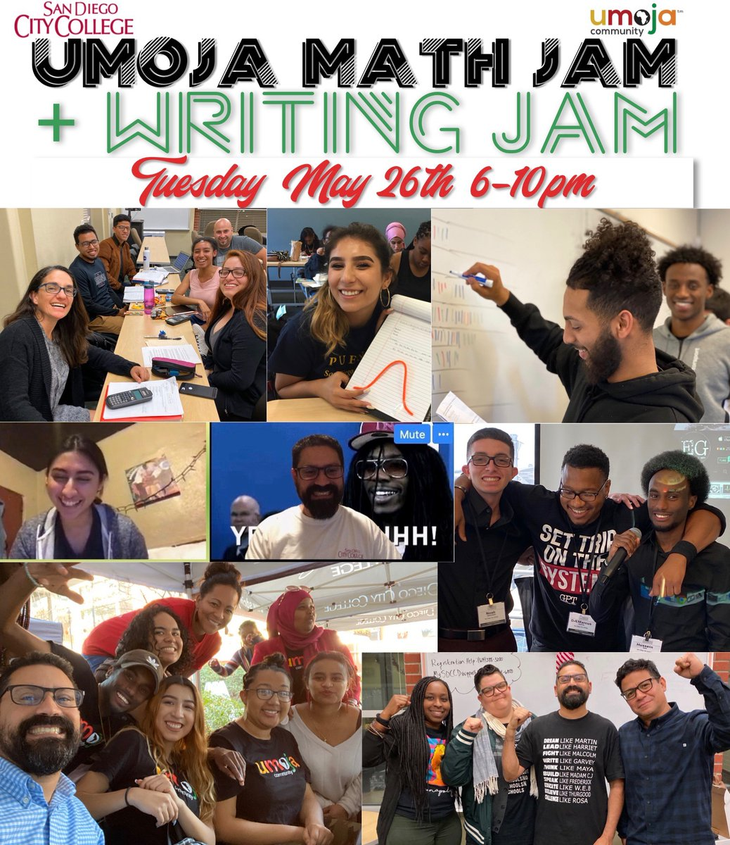 Join us tonight for the Umoja Math Jam!!! We study together, succeed together, graduate together!!! #SDCC #cityproud #sdcity<br>http://pic.twitter.com/6caPNdytOR