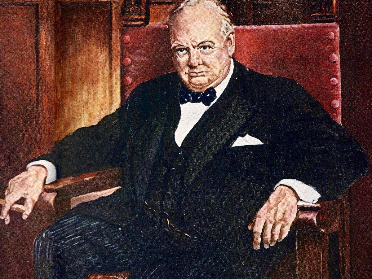 Dwight Eisenhower's oil portrait of Winston Churchill, 1955: