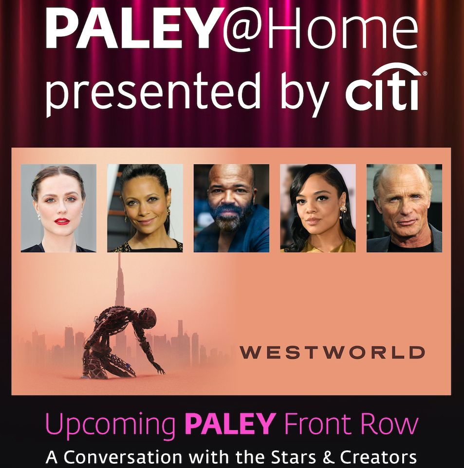 Make sure you head to our YouTube channel on Friday, May 22 for our Paley Front Row panel with the cast and creatives of @WestworldHBO!!  The panel goes live May 22, at 12pm EST. https://t.co/X8tsCIiYgt https://t.co/zRwwMQEgfs