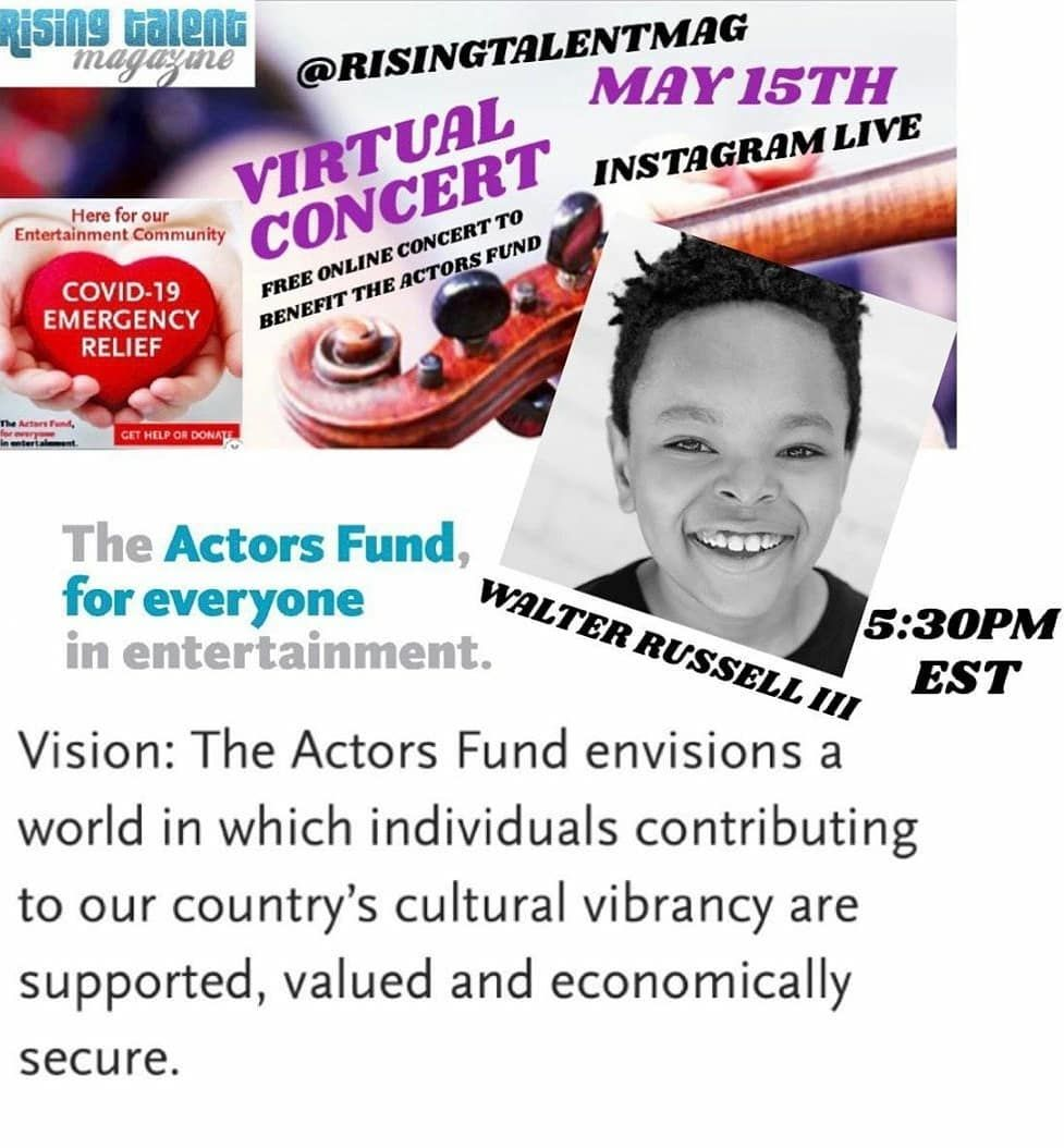 TOMORROW: Kids from #TheLionKing, #CursedChildNYC, and #TheBedwetter will take part in Rising Talent Mag's concert for The Actors Fund at 10:30am EST!