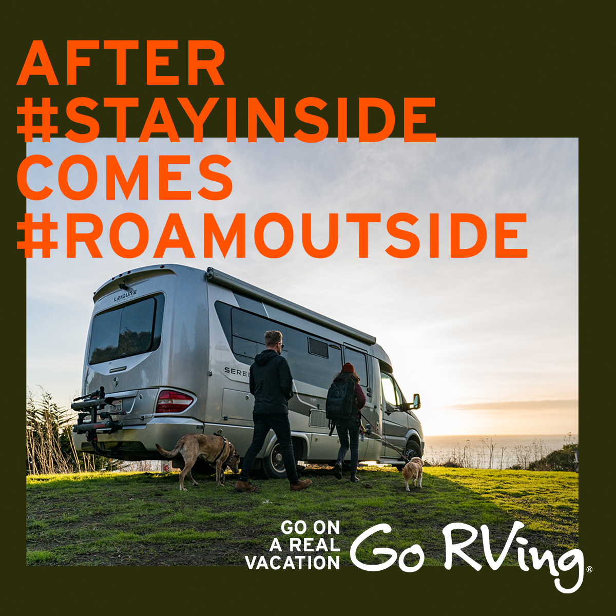 Catch up with nature. Go on a #RealVacation. Find an RV dealer on gorving.com
