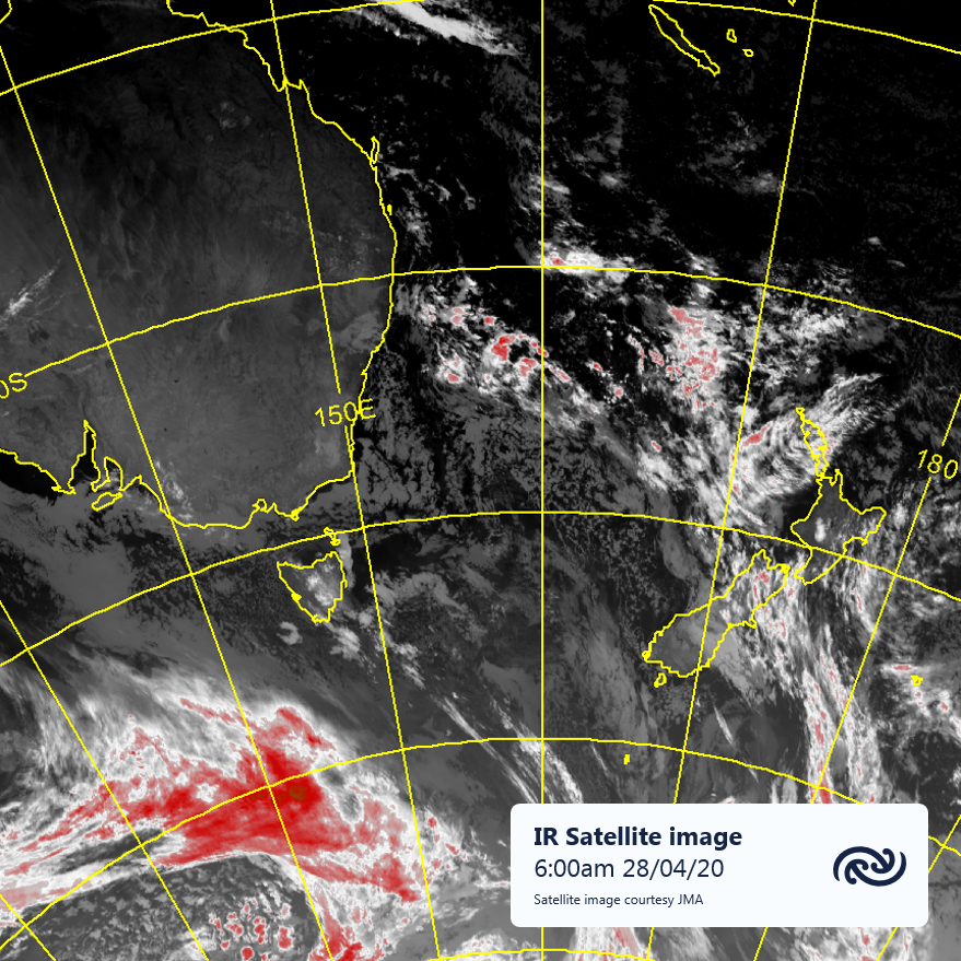 A ridge of high pressure over Aotearoa means mainly settled conditions over the country. Any rain or showers (SI west coast, NI east coast) will be fairly light. The ridge holds on this week, keeping the system south of Australia offshore. More at bit.ly/metservicenz^AJ