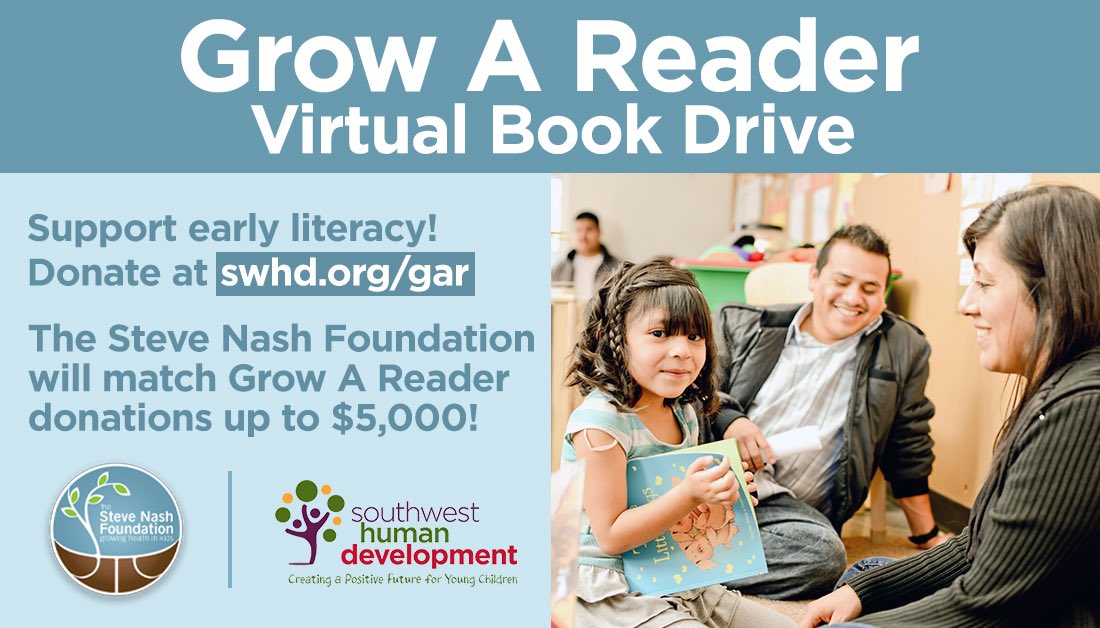 Early literacy provides a foundation kids need for success! We've teamed up with Southwest Human Development (@swhdaz) to help put more books in the hands of kids who need them the most: we'll match your donation up to $5,000 - donate today at https://t.co/Xwh5g292wO! https://t.co/aPmBcDci0N