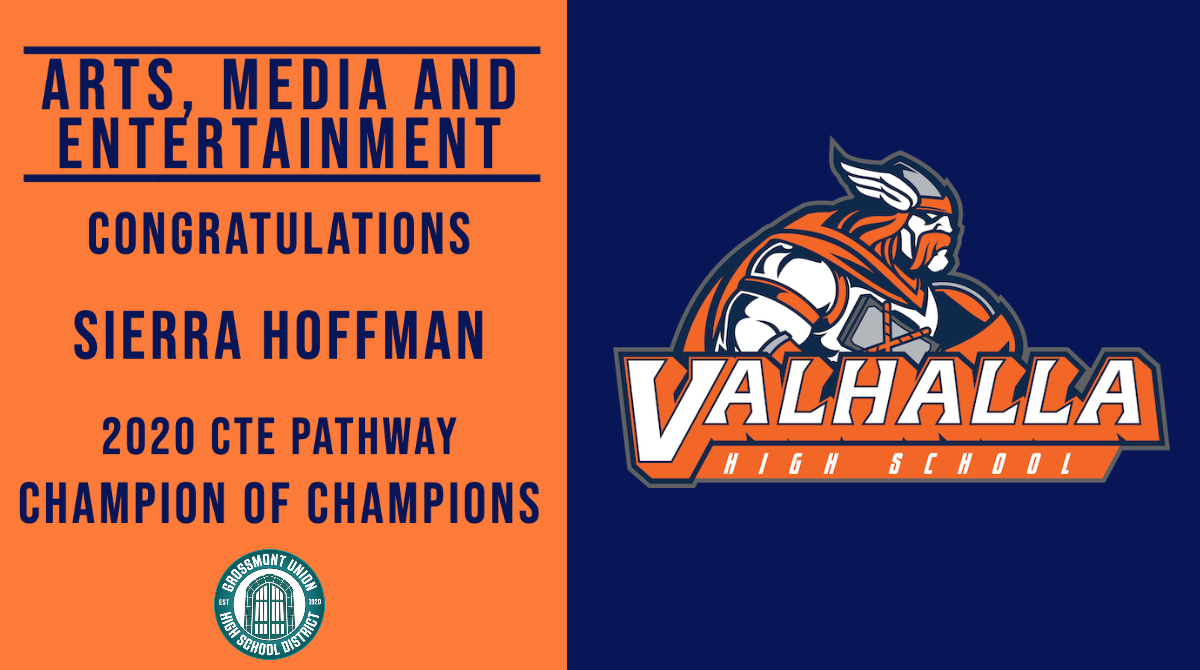 Great job to this years CTE Champion of Champions for @valhallahigh @GUHSDTweet #GUHSDCTE