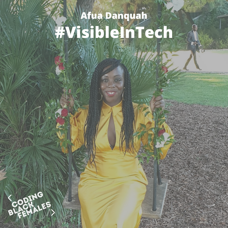 Meet @AfuaDanquah1  It has been a whirlwind of a year for Afua as she has learnt various technologies and languages such as PHP, SQL, HTML, CSS whilst working full time in the higher education sector.   #VisibleInTech #WomenInTech #BlackTechTwitter https://t.co/yXZaKoqOfF