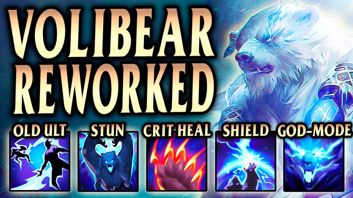CaptainMonk - Come and check out the New Volibear Rework! 🐻