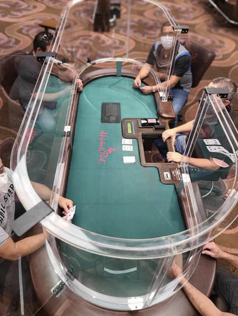 NEW: Casino in Hialeah, Florida tests their updated poker tables.