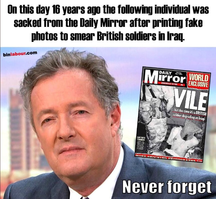 Anyone celebrating with @piersmorgan ? I very much doubt it. https://t.co/PF1l5fHSn1