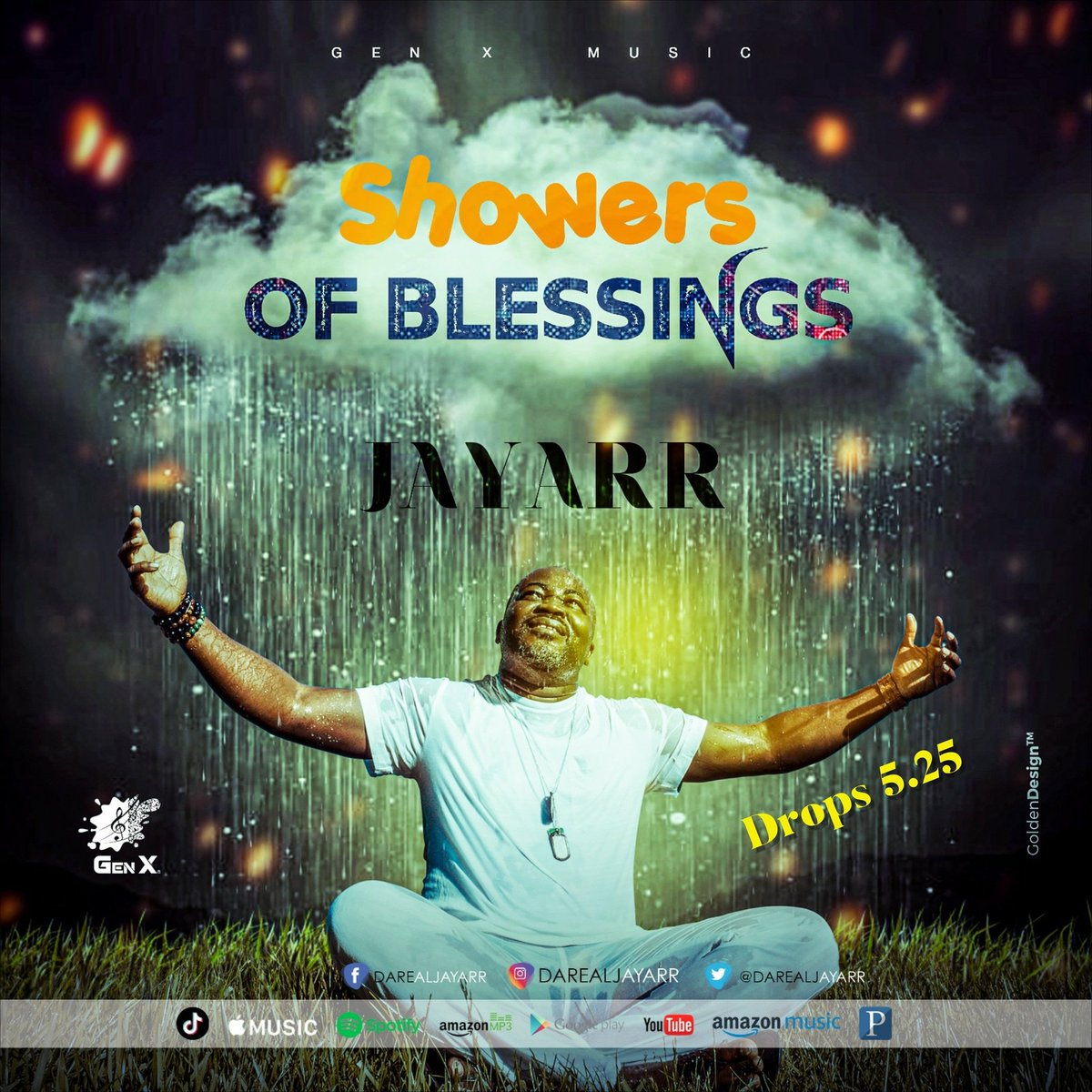 The number 5 represents God's grace. 5 × 5 = 25 represents grace upon grace. The 1st single on the album titled 5 is Showers of Blessings...drops 5.25 #showersofblessings #memorialday #musicislife #lifehappens #notbyaccident #itwasmeanttobethisway #reggaemusic   #SaloneTwitter https://t.co/z6VX4VusgV
