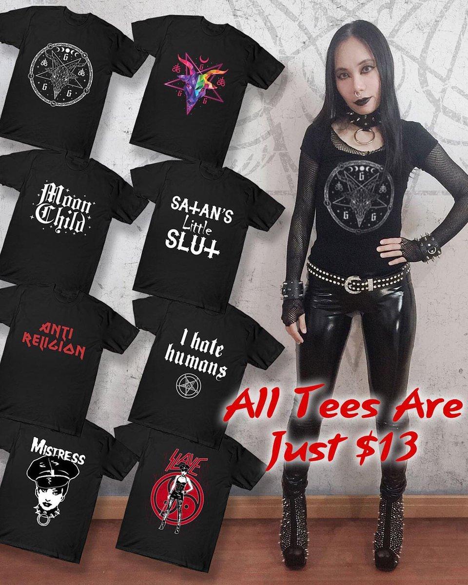 Few hours left! Everything on SALE up to 35% OFF sitewide! Link in bio #metalgirl #metalhead #blackmetalgirl #deathmetalgirl #gothic #gothgirl #altgirl #darkgirl #satanic #demonic #trve #kvlt #moonchild #baphomet #hailsatan #antireligion #antichrist #mistress #slave #teepublic