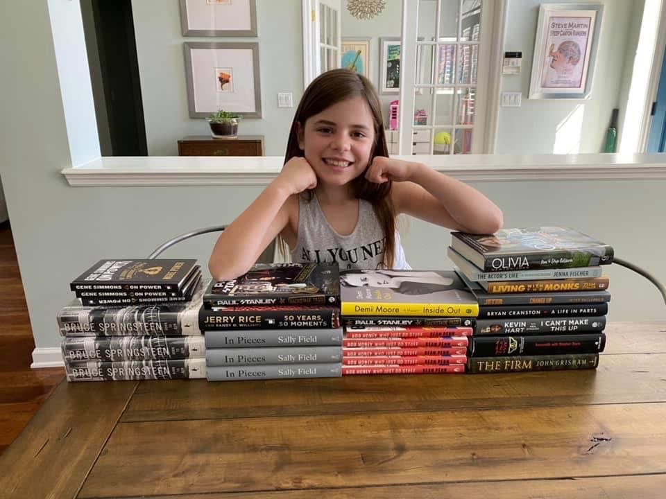 Julia is raising funds for First Coast Blessings through her Annual Book Sale. Shes's raised over $1000 so far. Read it & Weep Tears of Joy- Thats over 400 nutritious weekend meals for children! https://t.co/CcEYHPs4eq
