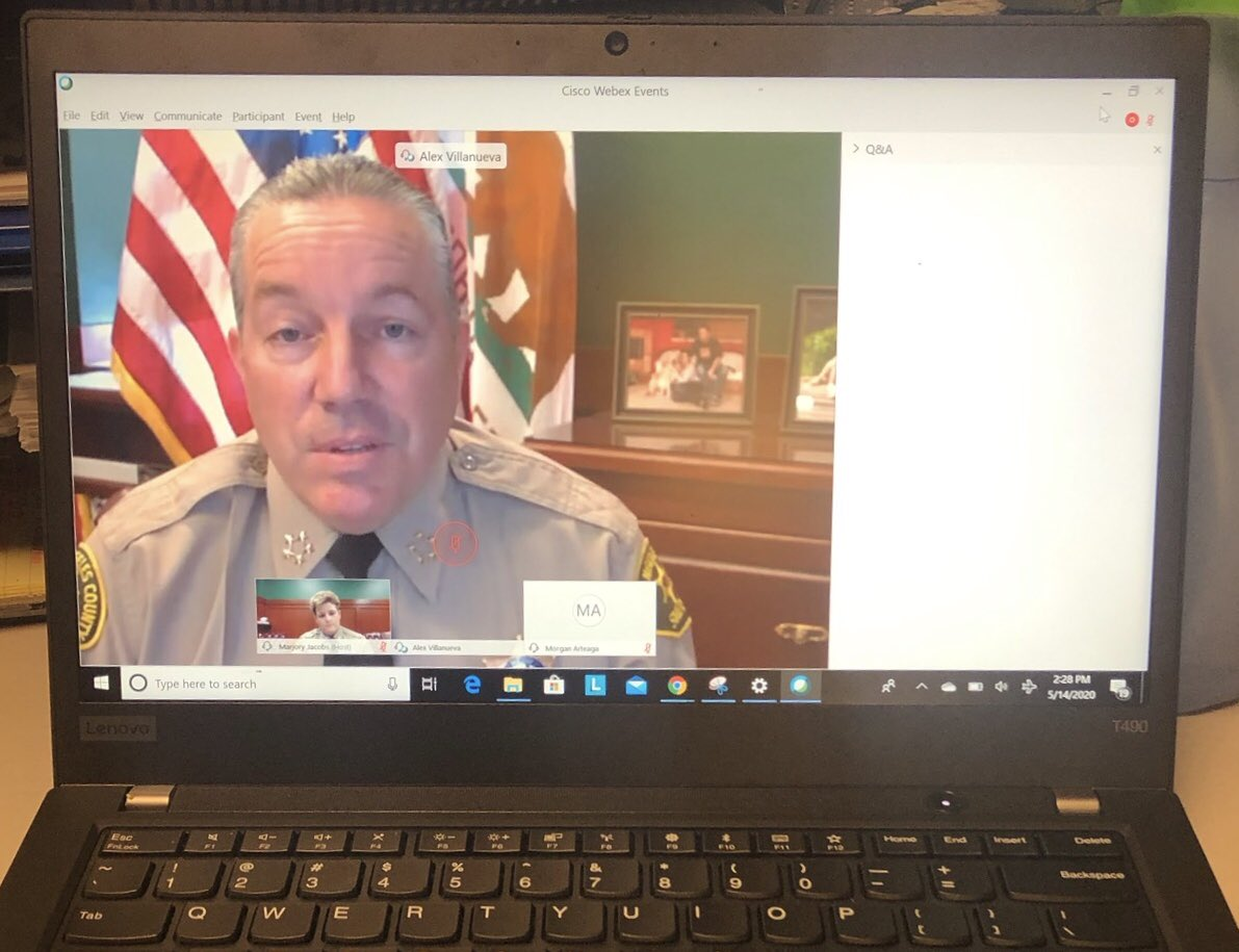 Just finished a virtual town hall with Capt Jacobs of @ALDLASD & the great residents of #Altadena. I want to thank everyone who participated. You were heard & I will do all I can for you. My offer to the @LACountyBOS still stands. I am still waiting to meet/discuss @LASDHQ budget