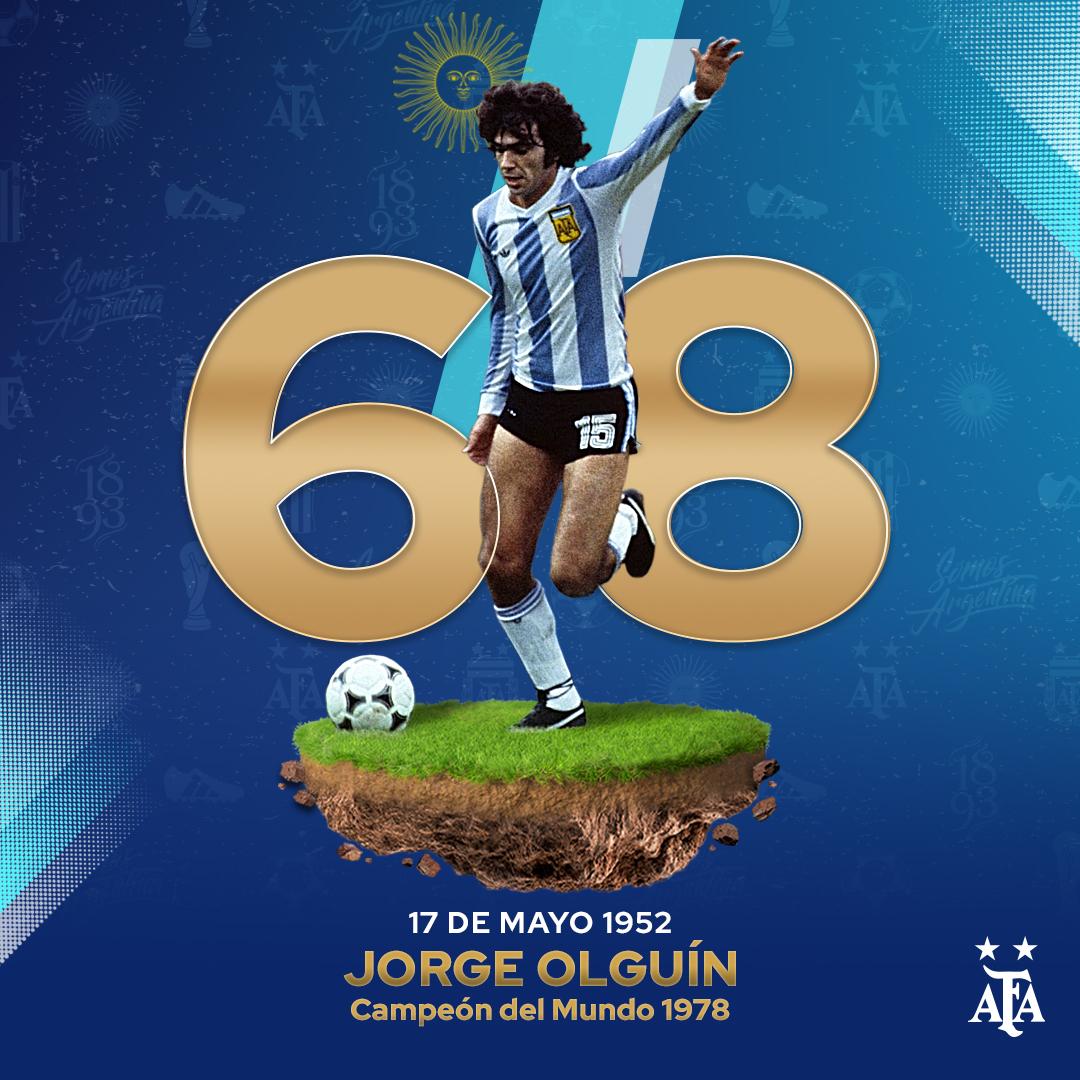 #Reconocimiento Hoy cumple años Jorge Olguín, campeón del mundo en 1978. ¡Felicidades!