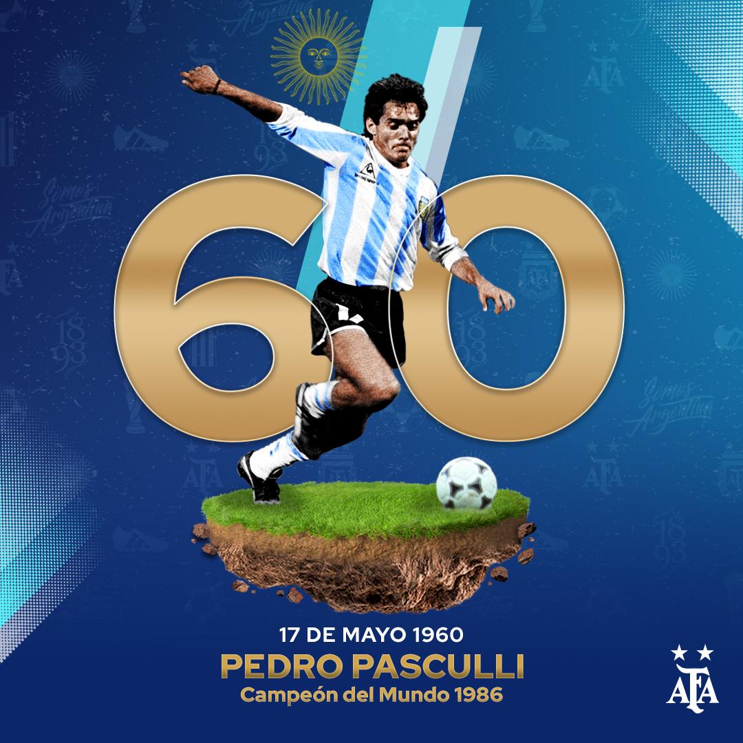 #Reconocimiento Hoy, Pedro Pasculli, campeón del mundo en 1986, cumple años. ¡Felicidades!