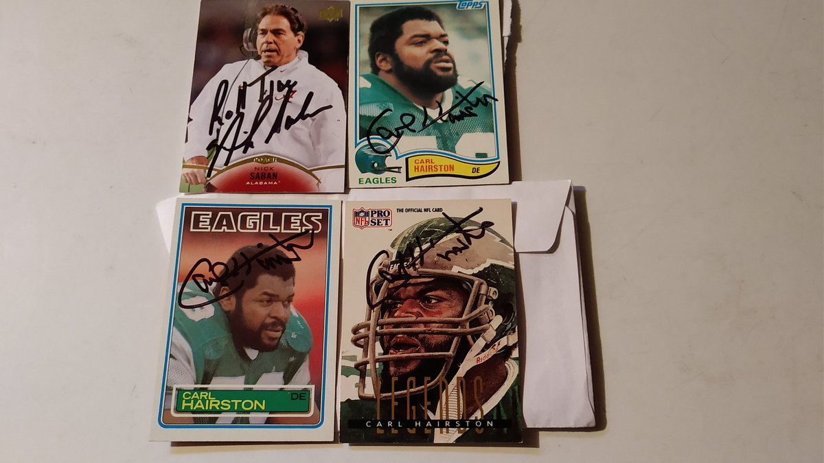 Cool Mailday from Future Phenom Bobby Witt Jr, Coach Nick Saban and Former Eagle Carl Hairston https://t.co/cll3Yog8vK