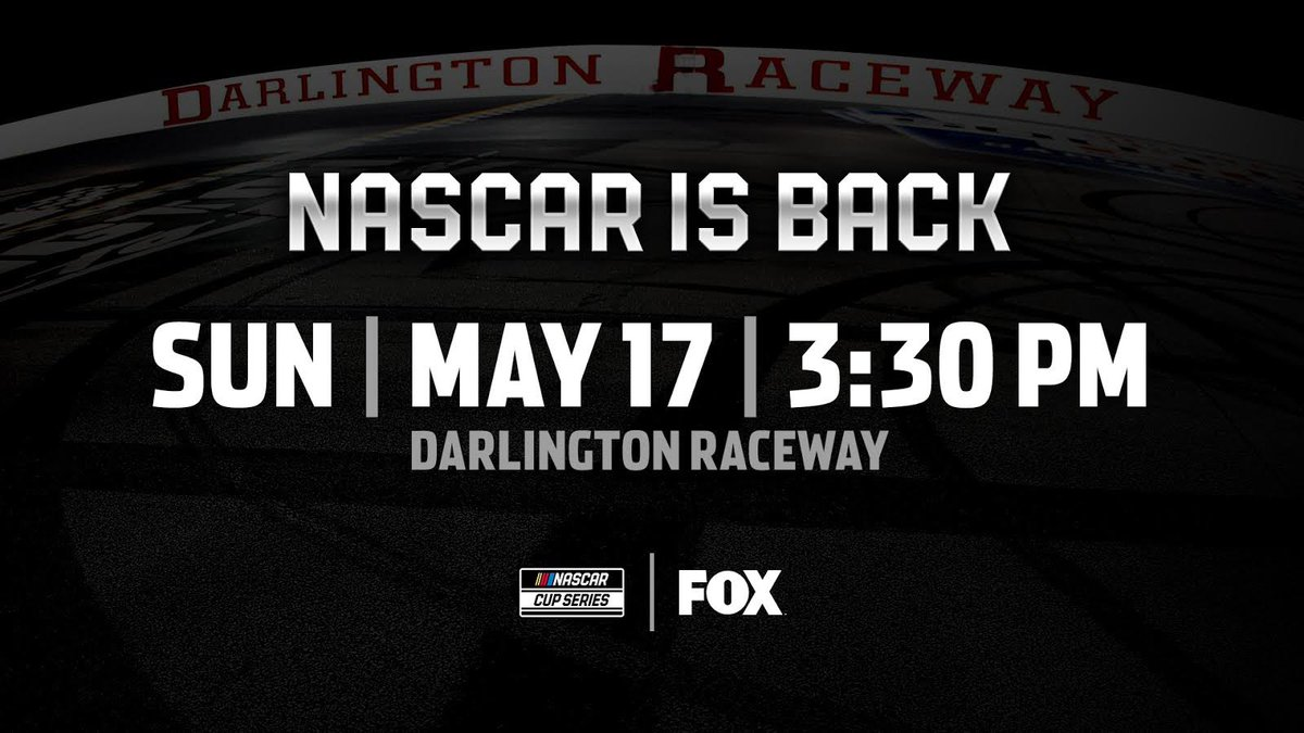 Excited to see my boy @AustinDillon3 back at it! @NASCAR is headed to the track @TooToughToTame and celebrating workers on the front lines!  Can't wait to watch! @NASCARonFOX at 3:30pm EST on May 17th! #NASCARisBack #NASCAR #TheRealHeroes https://t.co/kd07PX0o8q