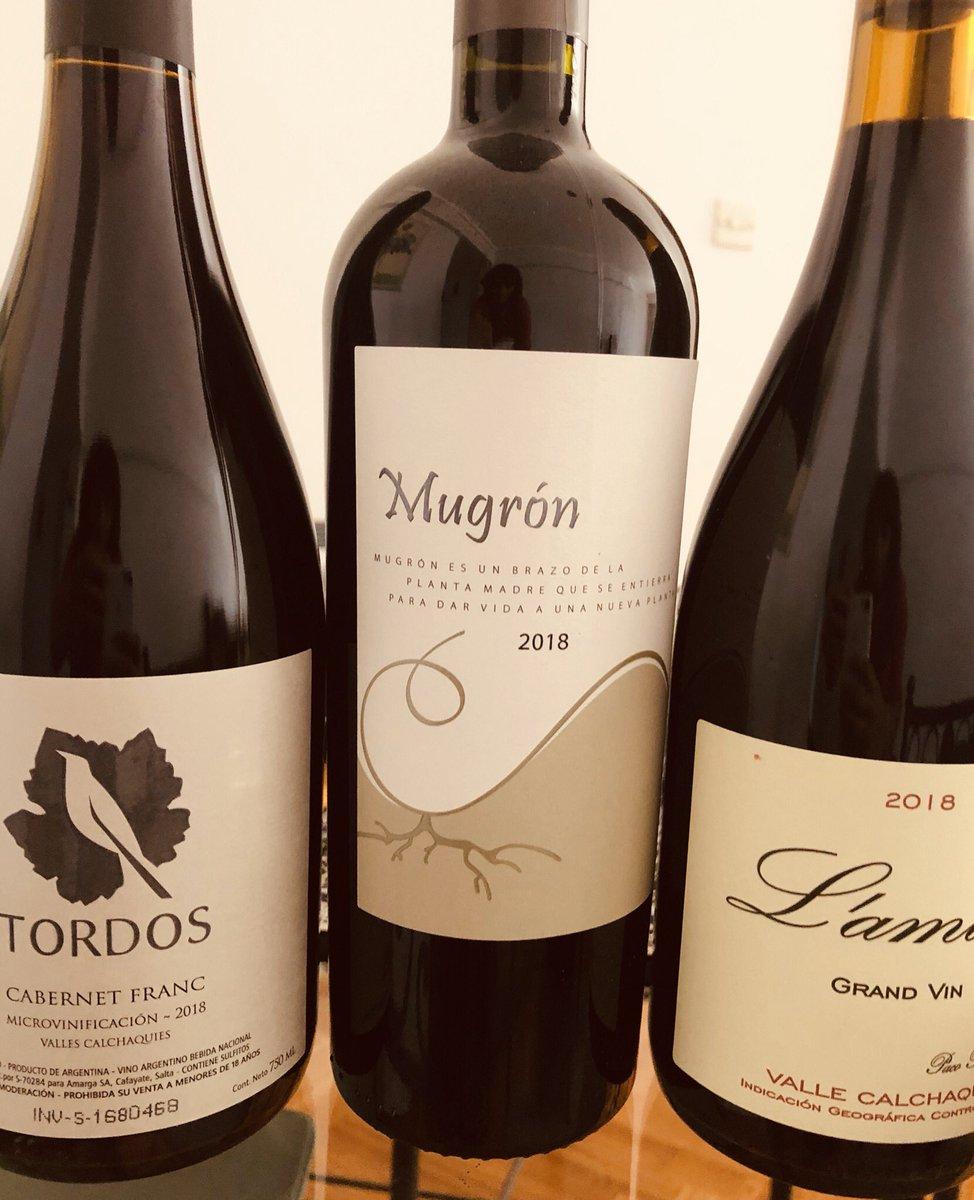 Y de repente se armo este TRIO ! Qué decir de estos vinos representantes del #vallecalchaqui ? Solo #siganhaciendolochicos @PacoPuga1 @tordoswines @rdcafayate @claudiomaza1 @mquirogadamo #Winelover #wineandfriends #encasapic.twitter.com/f84Ot3jpJa
