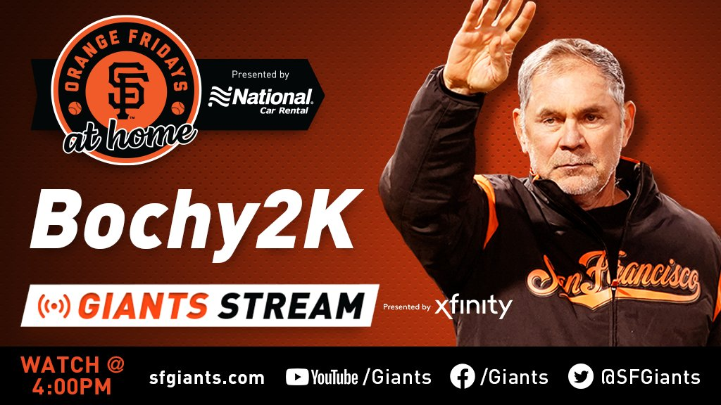Join us to relive Bruce Bochys historic 2,000th win, tomorrow. #OrangeFriday @ Home, presented by @NationalPro Last September at Fenway Park, Boch became only the 11th Manager to reach 2,000 victories. 4pm Giants Stream, powered by @Xfinity #Bochy2K   #SFGiants