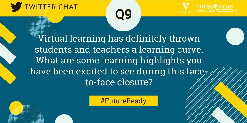 Q9: What are some learning highlights you have been excited to see during this face-to-face closure? #FutureReady