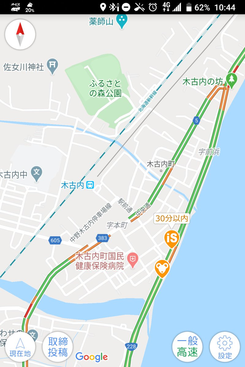 "nori68 on Twitter: ""移動式オービス情報 木古内町 R228… """
