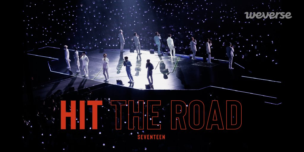 Follow #SEVENTEEN on their World Tour ODE TO YOU, HIT THE ROAD is now on Weverse. Watch the first ever documentary from SEVENTEEN on #Weverse! 🎬 2 episodes every Wed & Fri, at 12 PM (KST) (Total 15) 👉app.weverse.io/9hdao #HIT_THE_ROAD