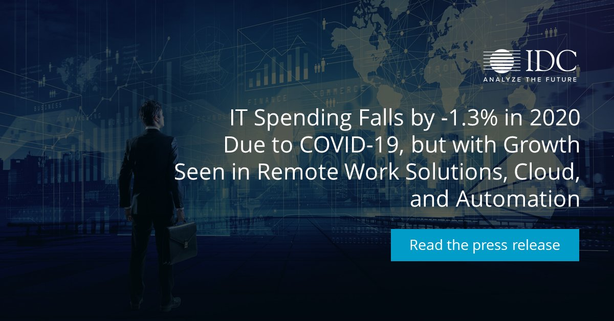 #COVID19 has forced organizations to rethink #IT tech spending, with enterprises driven to move faster to #cloud, accdg to @IDC's latest Black Book update. Read more: https://t.co/9ROX7Eu58H https://t.co/uNJV5U1IfG