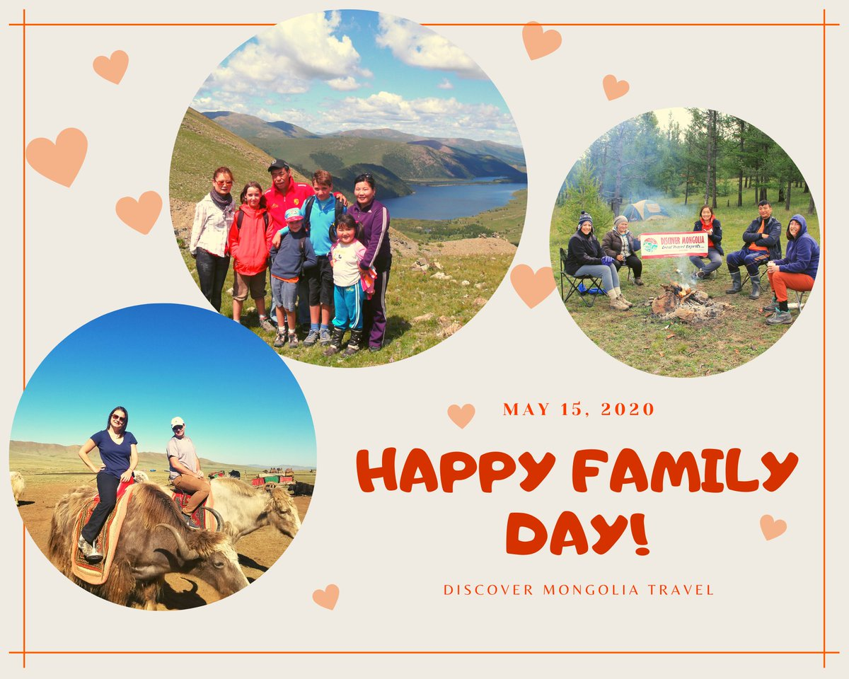 Happy International Family Day to you and your loved ones! ❤️ Memories with your family stays forever... Love, Discover Mongolia 🥰   #familyday #familytrip #DiscoverMongolia #goodmemories https://t.co/duGlzE4O5S