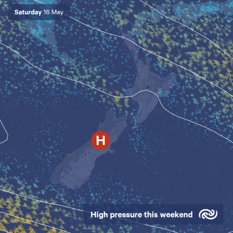 High pressure continues this weekend, bringing mostly settled weather across Aotearoa. Full details at bit.ly/metservicenz ^AJ