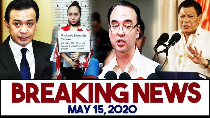 LATEST NEWS MAY 15, 2020: TRILLANES SUPALPAL KAY ALAN PETER CAYETANO | PRES. DUTERTE | LITO LAPID