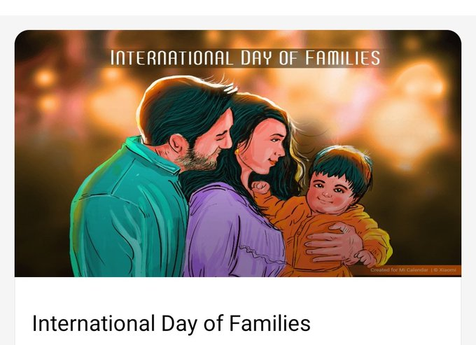 International Day of the Family - 15 May  IMAGES, GIF, ANIMATED GIF, WALLPAPER, STICKER FOR WHATSAPP & FACEBOOK