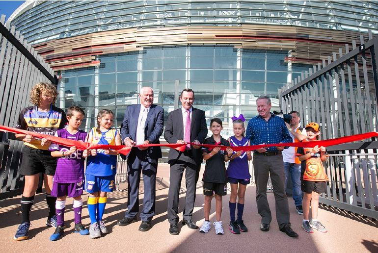"""I sometimes forget the images I take, capture history in the making.... This photo was taken when @MarkMcGowanMP cut the ribbon at Optus Stadium's Open Day.""   Pic #4/10 of Travis Hayto's #OptusStadiumTakeover 📷👉 https://t.co/g8OVHRU28S https://t.co/Rbs1vZdtWy"