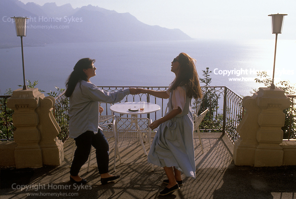 The end of term at the Swiss finishing school Surval, Mont-Fleuri, Montreaux, Switzerland 1990s. From My British Archive, 50 years documenting Britain and occasionally elsewhere. https://bit.ly/2AsW6eV    #documentaryphotography  #photographer #archive #photopic.twitter.com/wWmUcubKgc
