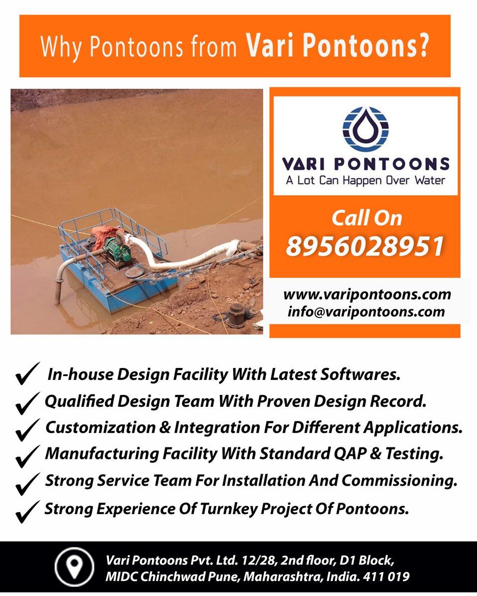Why Pontoons from Vari Pontoons??  For free Enquiry Call Us on 8956028951 Sales@varipontoons.com http://www.varipontoons.com https://bit.ly/VariPontoonsCentrifugalPumps…  #VariPontoons #Pune #pontoonsmanufacturerpic.twitter.com/7rKYPx5R3R
