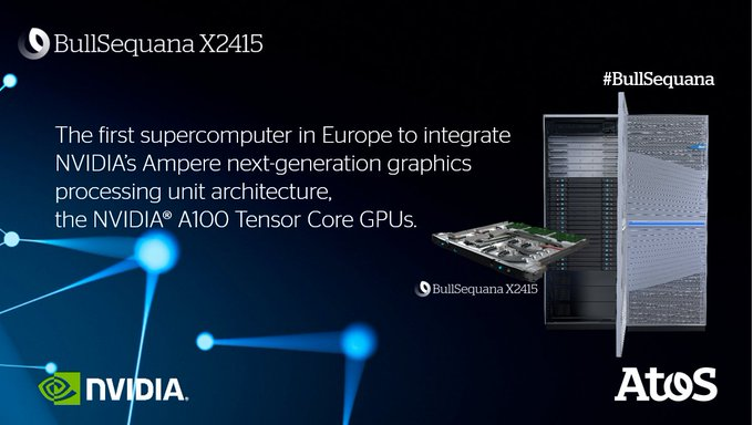 #BullSequana X2415, the first #supercomputer in Europe to integrate #NVIDIA's Ampere next-gene...