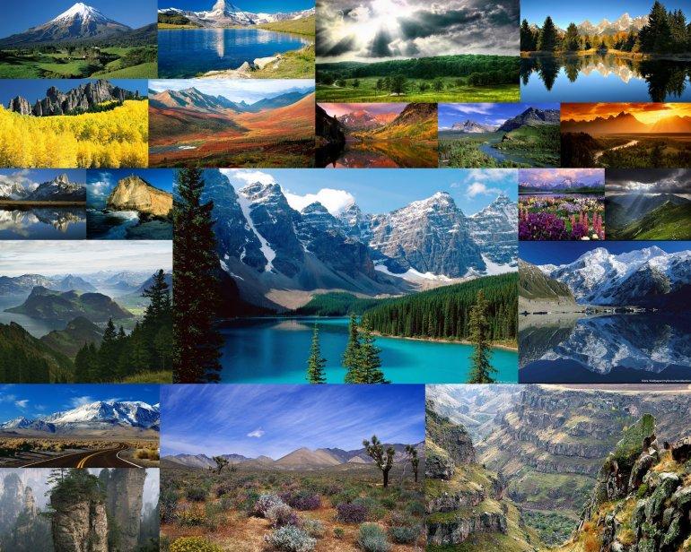 коллаж природа из фотографий шифер