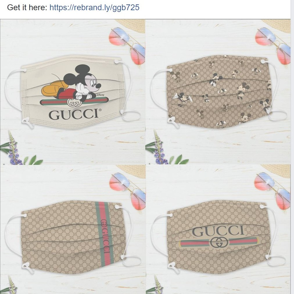 I knew it! it was just a matter of time before someone slaps a Gucci and/or Disney logo on a cheap mask and sell it as a premium for the brand conscious. SMH. https://t.co/e3YLK9A2Dv