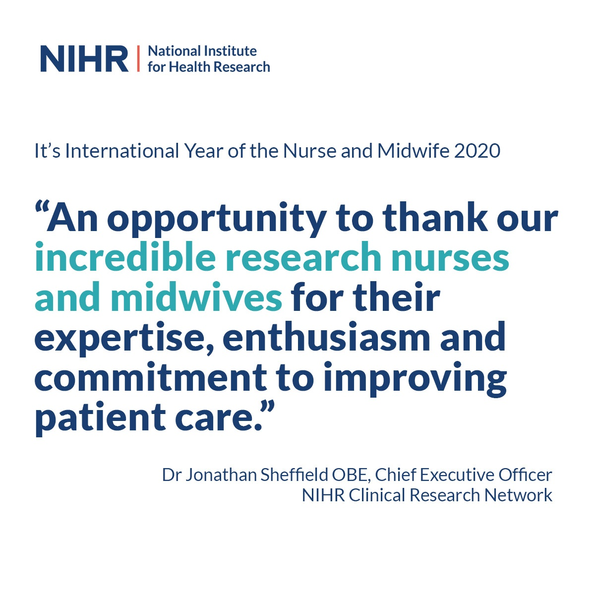Huge thank you to all the incredible nurses across the East currently doing such vital work, including our fantastic #NHSresearch nurses who have moved to front line posts & those still working on studies #InternationalYearOfTheNurseAndMidwife