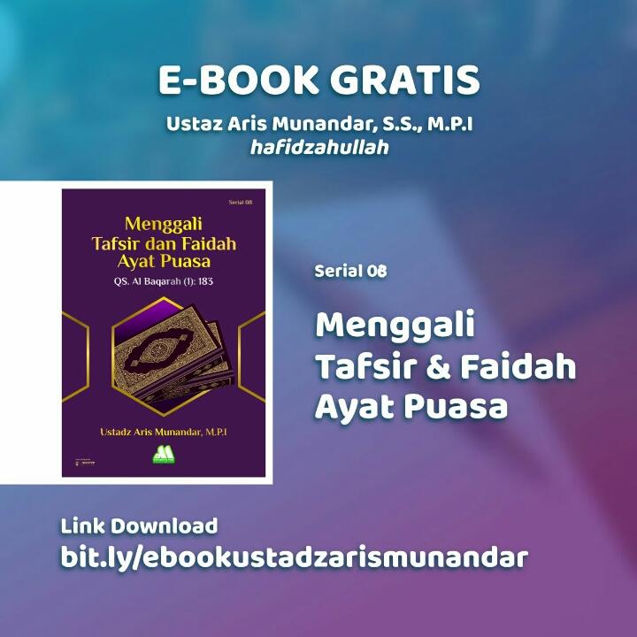 📔 E-Book Gratis Serial 8: Menggali Tafsir dan Faedah dari Ayat Puasa📔 〰️〰️〰️〰️〰️〰️ Unduh E-Book di sini: https://t.co/A3ZK5s1c2t  atau melalui link ini jika ingin melihat koleksi lain: https://t.co/OMwSIu8Cuf https://t.co/e7IeRXZx6H