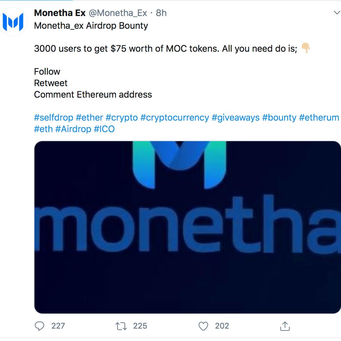 monetha cryptocurrency price