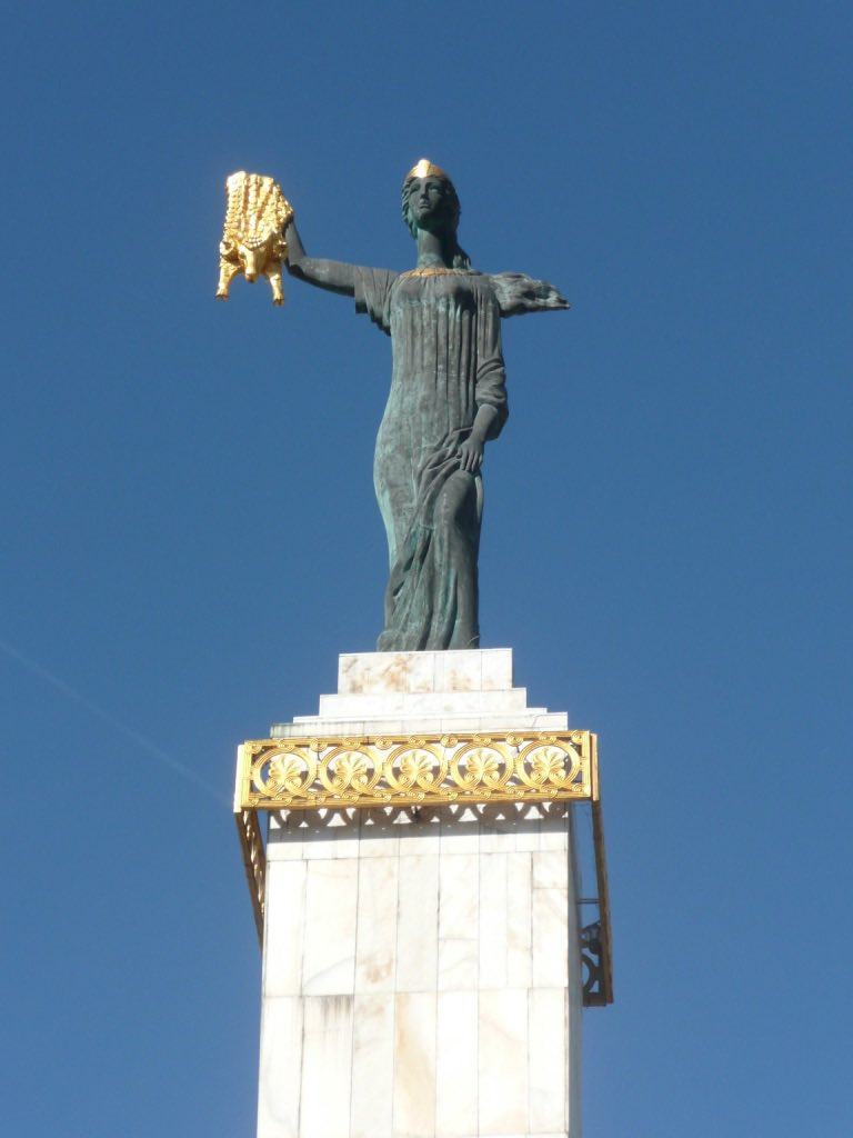 """We're venturing to the edges of Europe and are stepping into Georgia, Armenia, Azerbaijan and Kazakhstan. Our first photo of from alumnus Nigel Lindsay: """"This is a photo of Jason holding the Golden Fleece in Batumi, Republic of Georgia."""" #ABDNfamily #EuropeDay https://t.co/FUGKxgvOU5"""