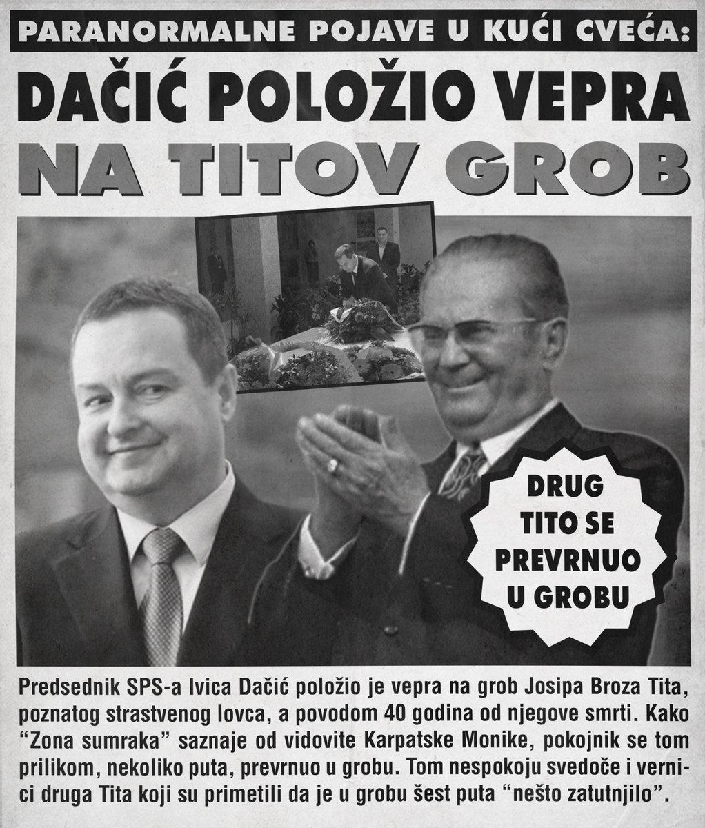 Ivica Dačić položio vepra na Titov grob