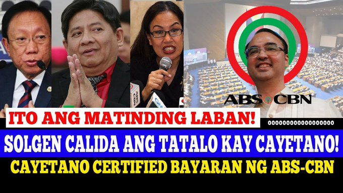 SOLGEN CALIDA at ATTY TRIXIE CRUZ & ATTY LARRY GADON NI-RESBAKAN si CAYETANO na UTUSAN ng ABS CBN -  (2020)