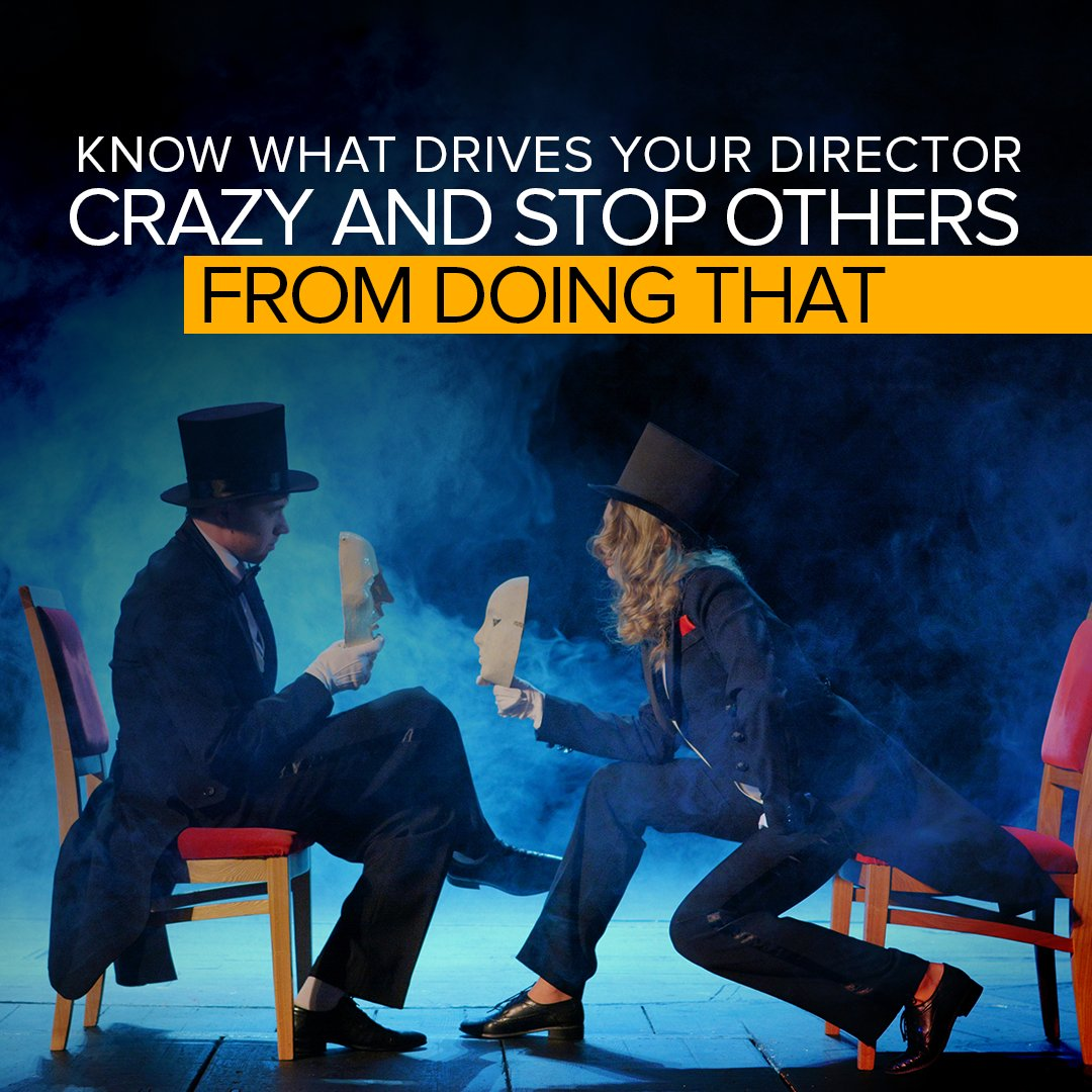 Know what drives your director crazy and stop others from doing that. #camera #act #acting #scriptwriting #Tuesday #thought #Tuesday #Tuesdaymotivation #stage #role #dress