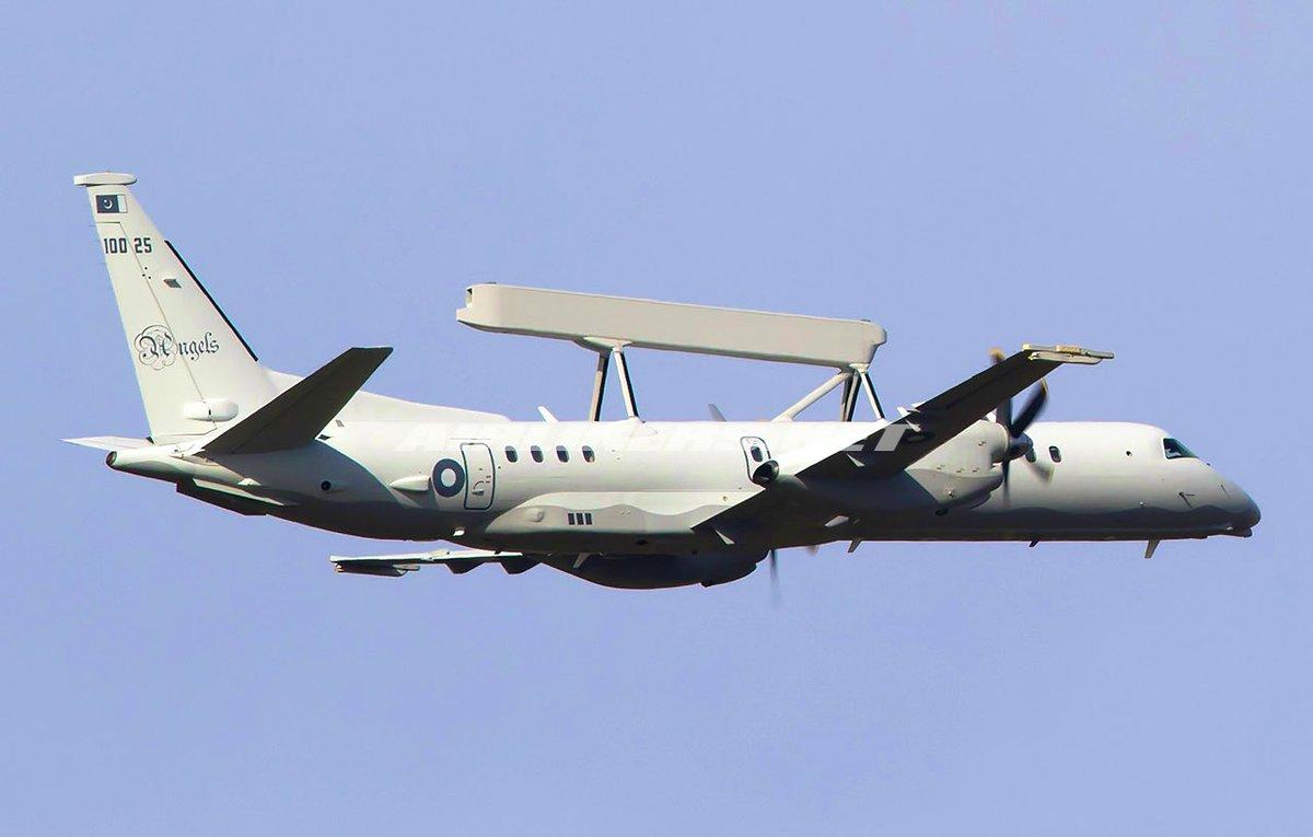 "PAK Intel Monitor on Twitter: ""🇵🇰 #Pakistan Air Force Saab 2000 Airborne Early Warning & Control aircraft EYE60 patrolling along Pak - #India border. 30,000FT 500MPH #AWACS #PAF… https://t.co/t2OivaRvFJ"""