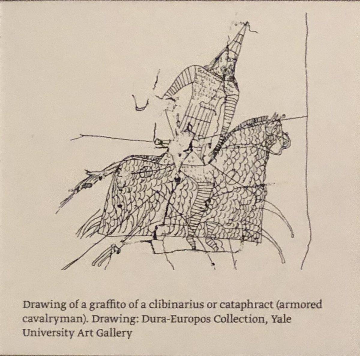 Alison Fisk On Twitter War Horses Iron Horse Armour Ad 165 256 And Sketch Of A Wall Graffito Both From Dura Europos Displayed Yaleartgallery Museumsunlocked Https T Co T7l52zd0f3